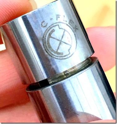 Laser marked logo