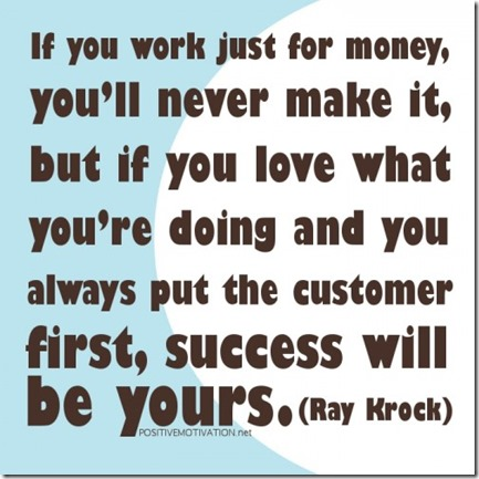 Work for what you love
