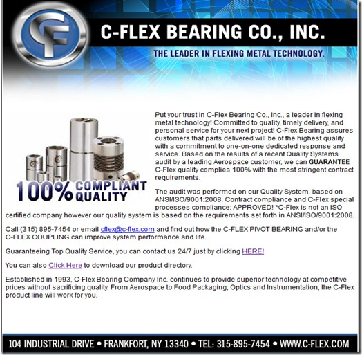 C-Flex has customization available  There are engineers